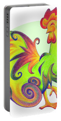 Stylized Rooster I Portable Battery Charger