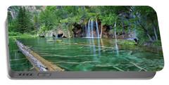 Submerged Log, Hanging Lake Colorado Portable Battery Charger