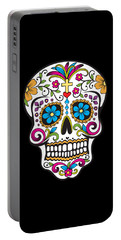 Sugar Skull Day Of The Dead Portable Battery Charger