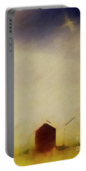 Portable Battery Charger featuring the digital art Summer At The Beach by Edmund Nagele