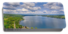 Summer Clouds On Keuka Lake Portable Battery Charger