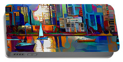 Portable Battery Charger featuring the digital art Summer In The City by Pennie McCracken