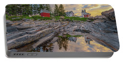 Summer Morning At Pemaquid Point Lighthouse Portable Battery Charger