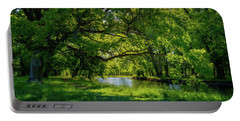 Summer Morning In The Park Portable Battery Charger