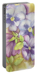 Summer Pansies Portable Battery Charger
