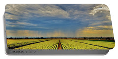 Summer Storm In The Corn Fields Portable Battery Charger