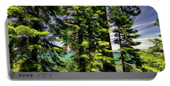 Summer Trees In Lake Tahoe Portable Battery Charger