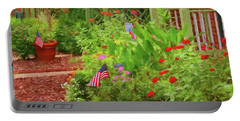 Summertime In The Flower Garden Portable Battery Charger