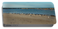 Sun Bathers At Corporation Beach Cape Cod Portable Battery Charger