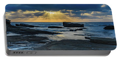 Sun Rays Burst Through The Clouds - Seascape Portable Battery Charger