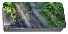 Portable Battery Charger featuring the photograph Sun Streaks by Debbie Stahre