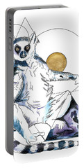 Sun Worship Ring Tailed Lemur Portable Battery Charger
