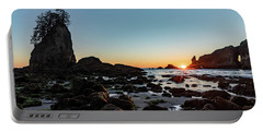 Portable Battery Charger featuring the photograph Sunburst At The Beach by Ed Clark