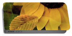 Sunflower And Leaves Portable Battery Charger