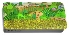Sunflower French Countryside Portable Battery Charger