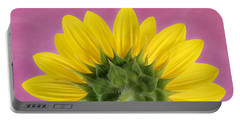 Portable Battery Charger featuring the photograph Sunflower On Pink - Botanical Art By Debi Dalio by Debi Dalio