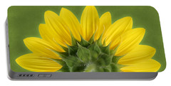 Portable Battery Charger featuring the photograph Sunflower Sunrise - Botanical Art By Debi Dalio by Debi Dalio