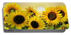 Sunflowers And Sunshine Portable Battery Charger