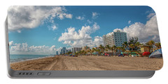 Sunny Day At Hollywood Beach Portable Battery Charger