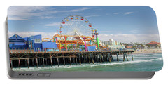 Sunny Day On The Santa Monica Pier Portable Battery Charger