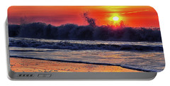Portable Battery Charger featuring the photograph Sunrise At 142nd Street Beach Ocean City by Bill Swartwout Fine Art Photography