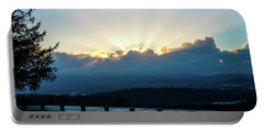 Sunrise At Astoria Column Portable Battery Charger