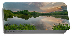 Sunrise At Ross Pond Portable Battery Charger