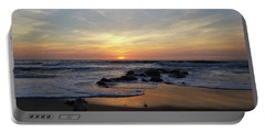 Portable Battery Charger featuring the photograph Sunrise At The 15th St Jetty by Robert Banach