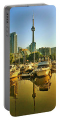 Sunrise At The Harbour Portable Battery Charger