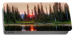Sunrise From The Reflection Lake Portable Battery Charger