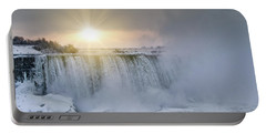 Sunrise In Niagara Falls Portable Battery Charger