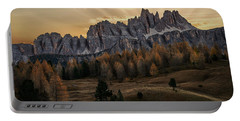 Sunrise In The Dolomites Portable Battery Charger