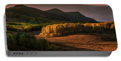 Sunrise In The Fall Mountains Of Utah Portable Battery Charger