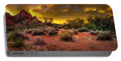 Portable Battery Charger featuring the photograph Sunrise In Zion by Michael Ash