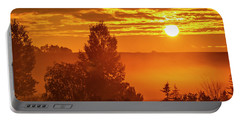 Portable Battery Charger featuring the photograph Sunrise On The Canadian Prairies by Philip Rispin