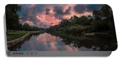 Sunrise On The River Portable Battery Charger