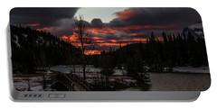 Sunrise Over Cascade Ponds, Banff National Park, Alberta, Canada Portable Battery Charger