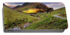 Sunrise Over Glen Etive - Scotland - Scottish Highlands Portable Battery Charger