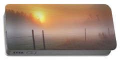 Sunrise Over Morning Pasture Portable Battery Charger