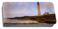 Sunrise Over Scurdie Ness Lighthouse Portable Battery Charger