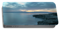 Before Dawn At The Dead Sea Portable Battery Charger