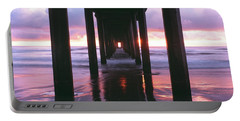 Sunrise Over The Pacific Ocean Seen Portable Battery Charger