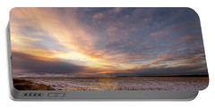 Portable Battery Charger featuring the photograph Sunrise Over The Stubble by Philip Rispin