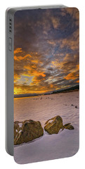 Portable Battery Charger featuring the photograph Sunrise Rocks by Tom Gresham