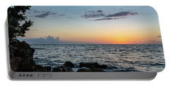 Sunset Afterglow In Negril Jamaica Portable Battery Charger