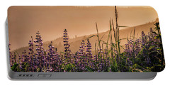 Sunset Among The Lupine Portable Battery Charger