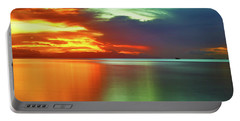Sunset And Boat Portable Battery Charger