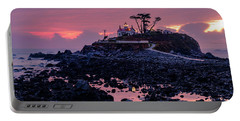 Sunset And Low Tide At Battery Point Portable Battery Charger