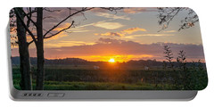 Portable Battery Charger featuring the photograph Sunset by Anjo Ten Kate