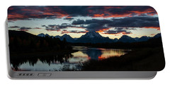 Sunset At Oxbow Bend Portable Battery Charger